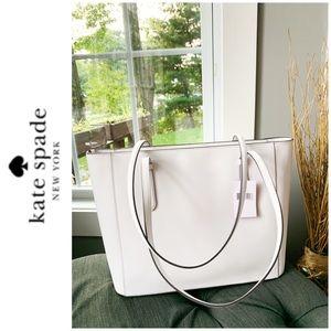 kate spade Bags - NWT Kate Spade genuine leather tote white